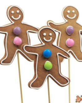 Cookie pops gingerbread men