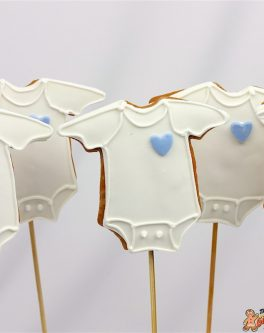 Baby Romper Cookie Pops