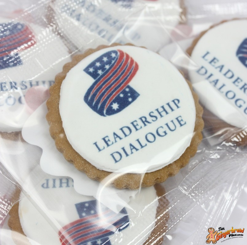 Logo Cookies Basic Round Promotional Cookie For Events