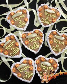 Lebkuchenherzen Gingerbread Hearts for Oktoberfest - You're a cutie