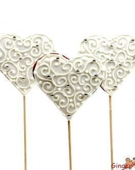 Love Heart Cookie Pops