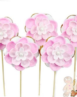 Deluxe 6 Petal Flower Cookie Pop