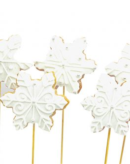 Christmas Snowflake Cookie Pops