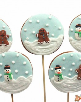 Christmas Snowglobe Cookie Pops