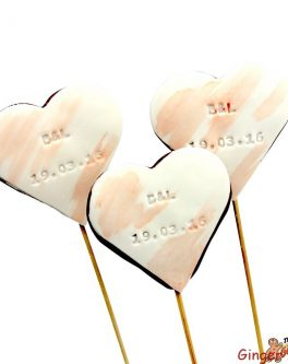 Personalised imprint Heart Cookie Pops