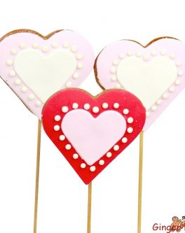 Valentines Heart cookie pops