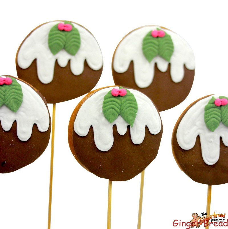 Christmas Pudding Cookie Pops - Ideal for Christmas gifts