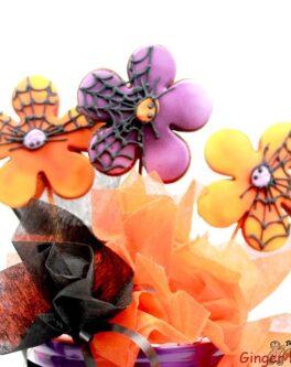 Halloween Flowers Cookie Pops