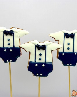 Baby Boy Vintage Romper Cookie Pops