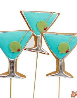 Martini Glass Cookie Pops