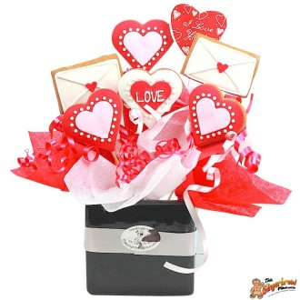 Love letter Cookie Bouquet