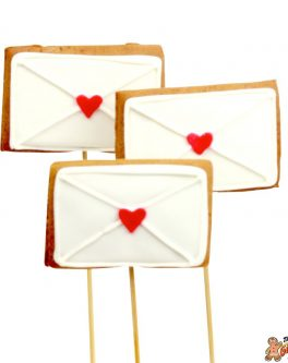 Love Letter Cookie Pops