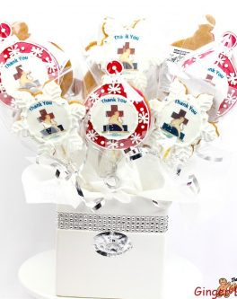 Christmas Bell Logo Cookie Bouquet