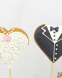 Heart Wedding Cookie Pops