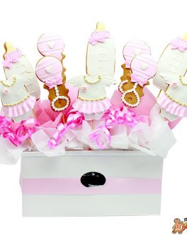Baby Cookie Bouquet pink girls