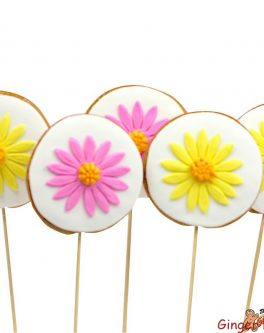 Round Flower Cookie Pops