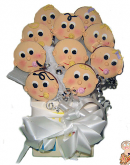 Cute Baby Face Cookie bouquet