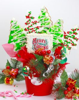 Christmas Tree Cookie pot