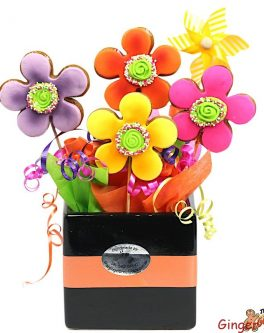 Razzle Dazzle Flower Cookie Bouquet