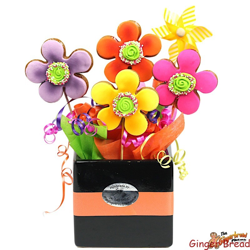 Razzle Dazzle Flower Cookie Bouquet - Ideal for all occasions