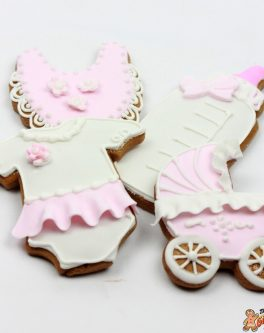 Ruffle Baby Girl Cookies in a Mixed Box