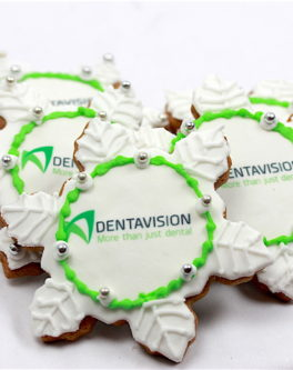 Logo Christmas Snowflake Cookie Favours
