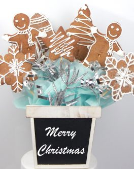 White Christmas Cookie Bouquet