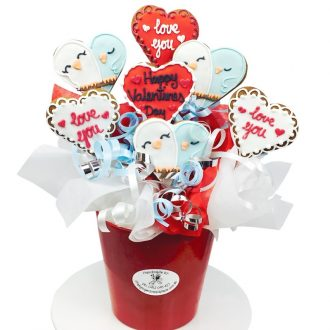 Love Birds Cookie Bouquet