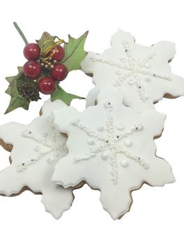 White Christmas Snowflake Cookie Favours
