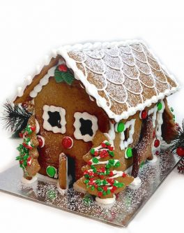 Mistletoe Gingerbread House