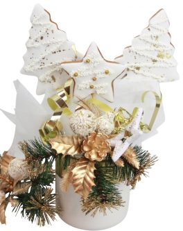 Shimmer Cookie Bouquet with gold or silver detail
