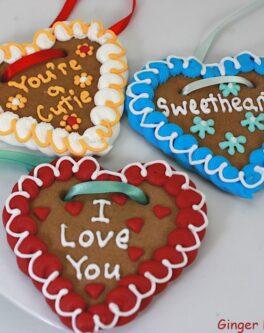 Lebkuchenherzen Gingerbread Hearts - Customised