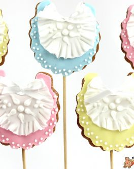 Baby Bib Cookie Pops