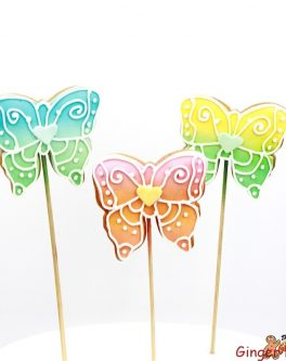 Butterfly Multicolour Cookie Pops