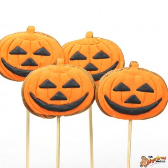 Cookie Pops Pumpkins