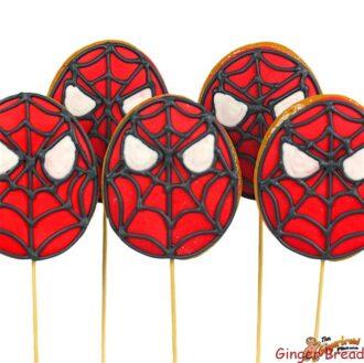 Spiderman Cookie Pops
