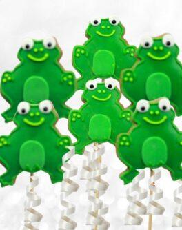 Frog cookie pops