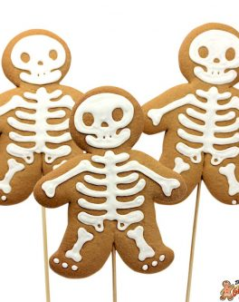 Cookie pops skeletons