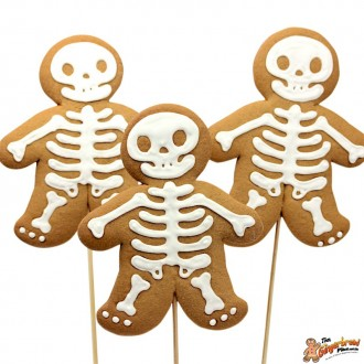 Cookie pops skeletons