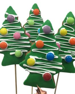 Xmas Green Deluxe Trees Cookie Pops