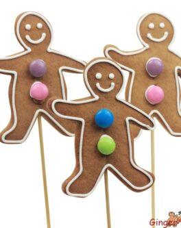 Cookie pops gingerbread men