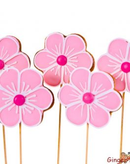 6 Petal Flower Cookie Pops