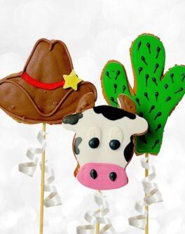 Wild West Cookie Pops