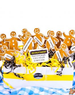 Gingerbread Men Cookie Bouquet