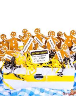 Gingerbread Men Cookie Bouquet