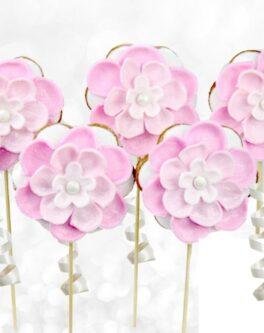 Deluxe 6 Petal Flower Cookie Pop