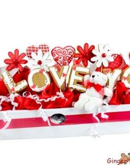Valentines Day letter cookie bouquet