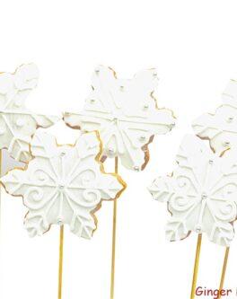 Christmas Snowflake Cookie Pops