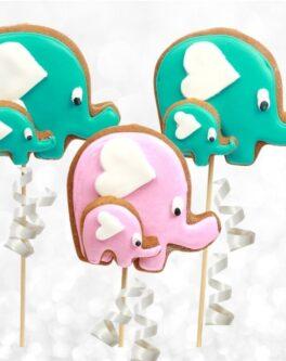 Family Elephant Cookie Pops