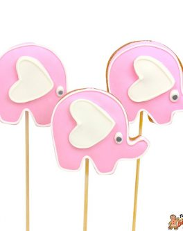 Cookie pops baby elephants